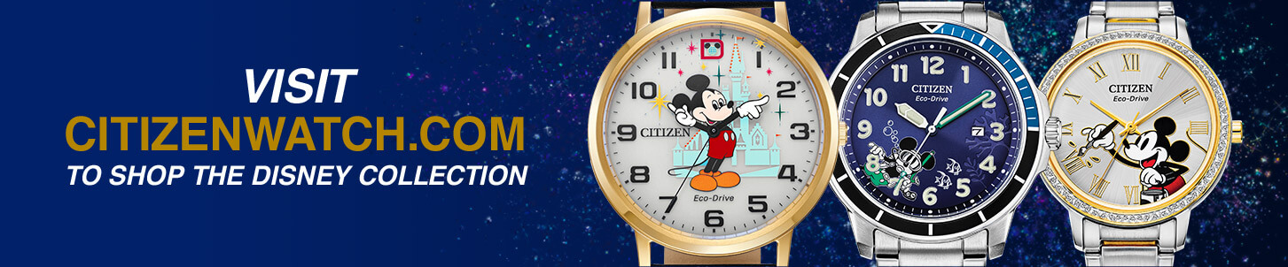 Visit citizenwatch.com to shop the Disney collection