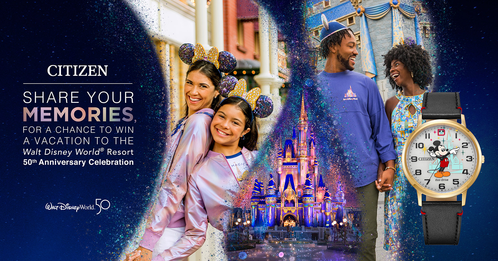 Share your memories, for a chance to win a vacation to the Walt Disney World 50th anniversary celebration